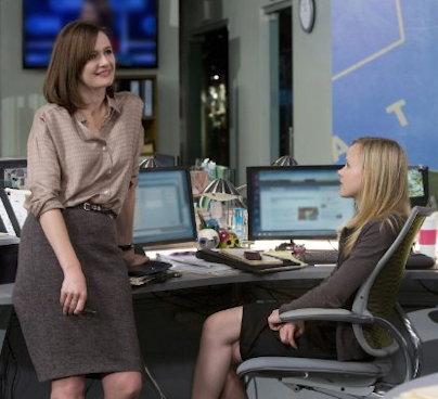 Emily Mortimer, Alison Pill in The Newsroom