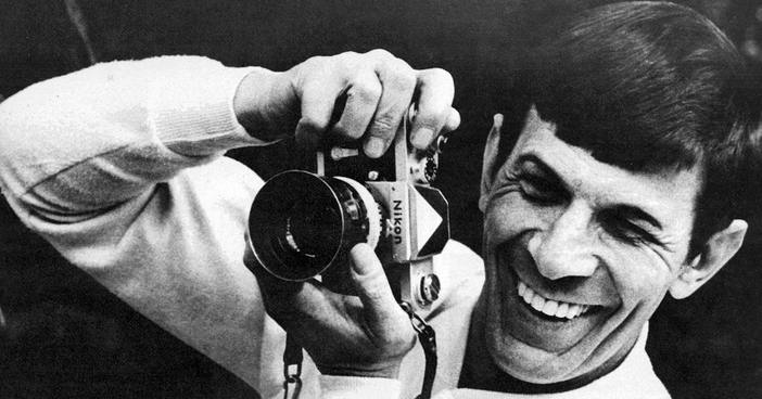 Leonard Nimoy with camera - also a multitalented creator