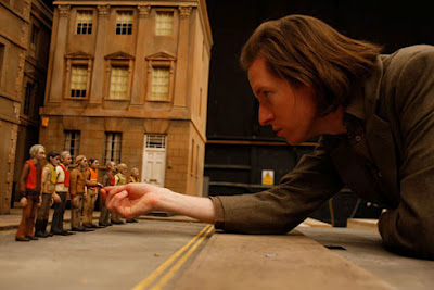 Wes Anderson working on Fantastic Mr. Fox