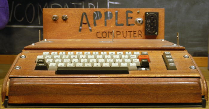 The Apple I, or Apple-1, released in 1976.