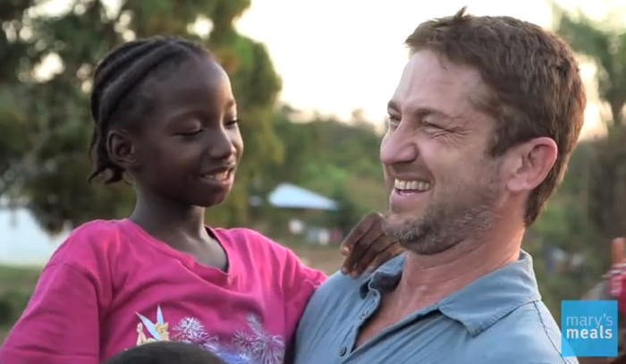 Gerard Butler - in Mary's Meals video