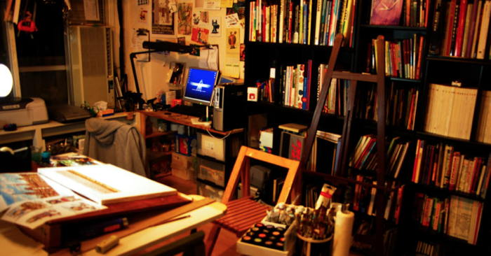 My room of My Studio (PaintMonster ArtStudio) by Marty Ito - a workspace for multitalented people