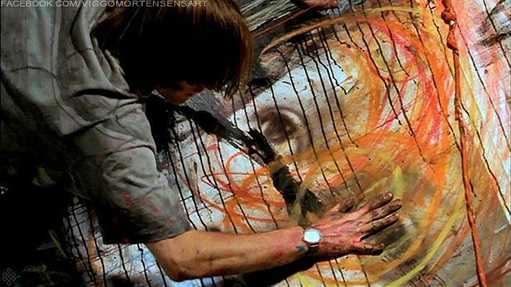 Viggo Mortensen painting