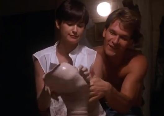 Demi Moore, Patrick Swayze - pottery scene in Ghost
