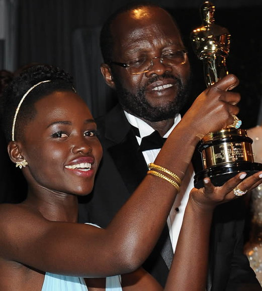 Lupita Nyong'o and father