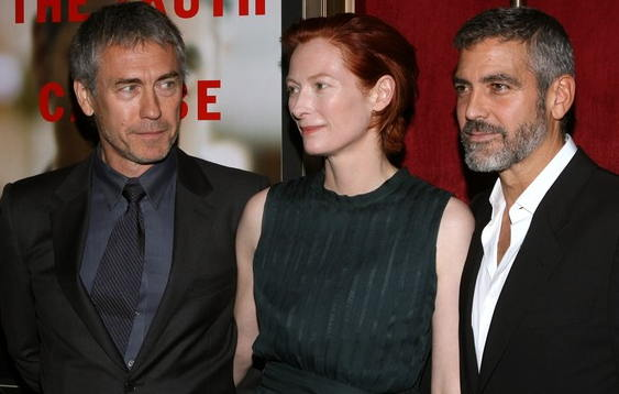 Tony Gilroy, Tilda Swinton, George Clooney at 'Michael Clayton' premiere