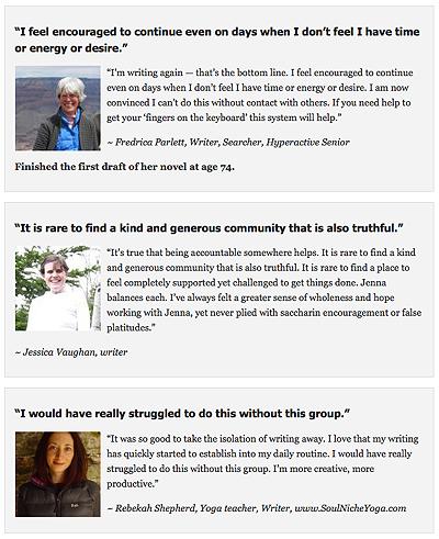 The Writer's Circle-testimonials