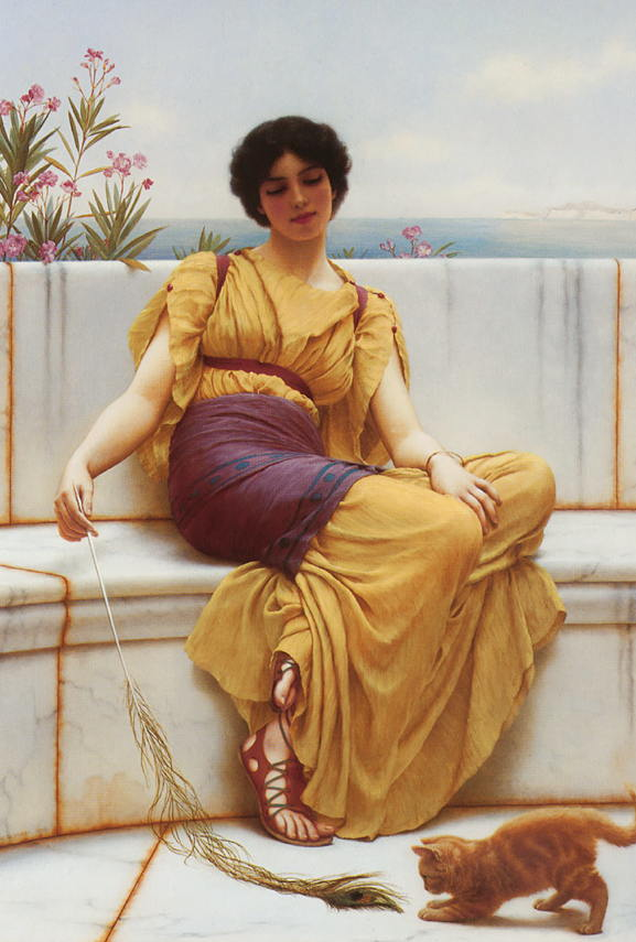 Idleness by John William Godward