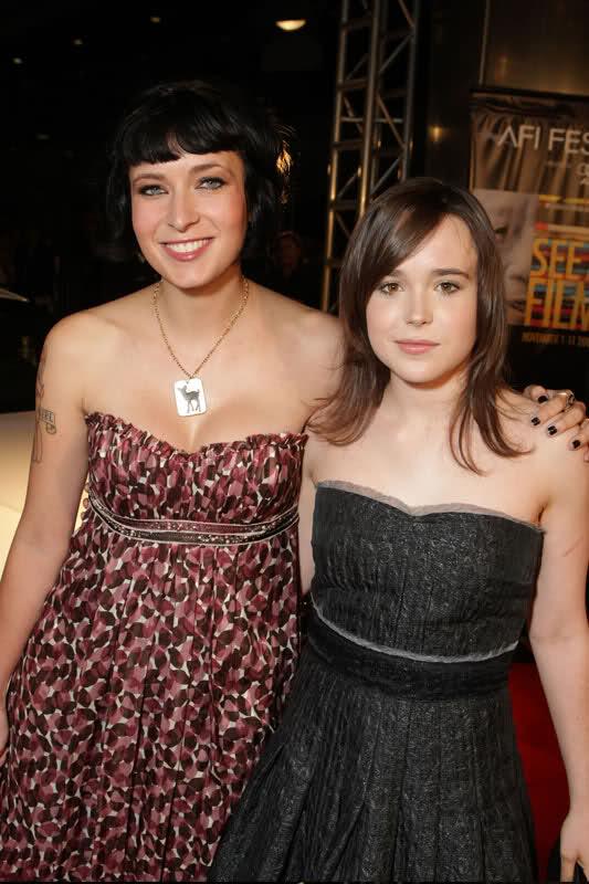 Diablo Cody and Ellen Page