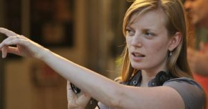 Sarah Polley on the set of her film Take This Waltz