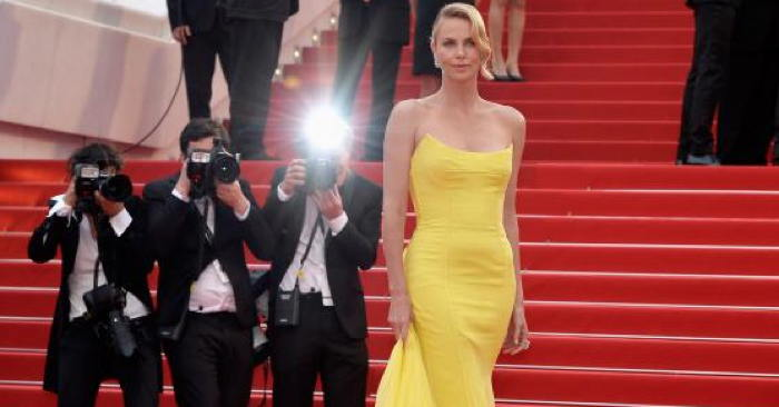 Charlize Theron on the red carpet