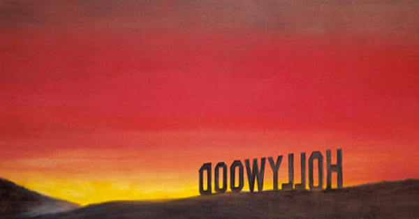The Back of Hollywood - by Edward Ruscha