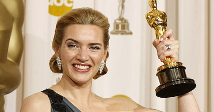 Kate Winslet with Oscar