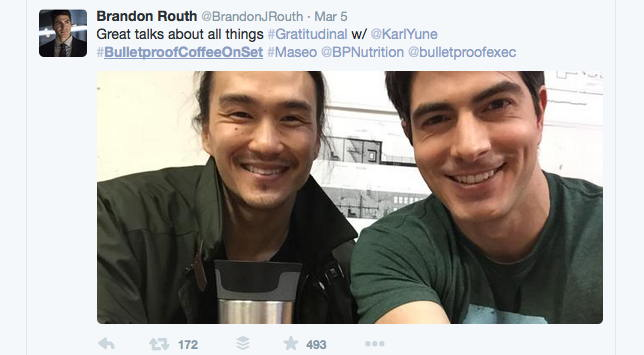Brandon Routh and Karl Yune