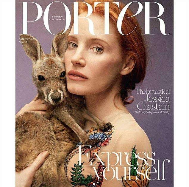 Jessica Chastain, Porter magazine