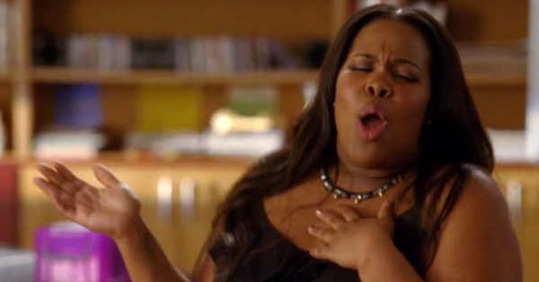 Amber Riley on TV series Glee
