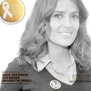 Salma Hayek - stop violence against women