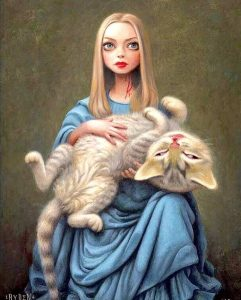 Amanda painting by Mark Ryden inspired by Amanda Seyfried