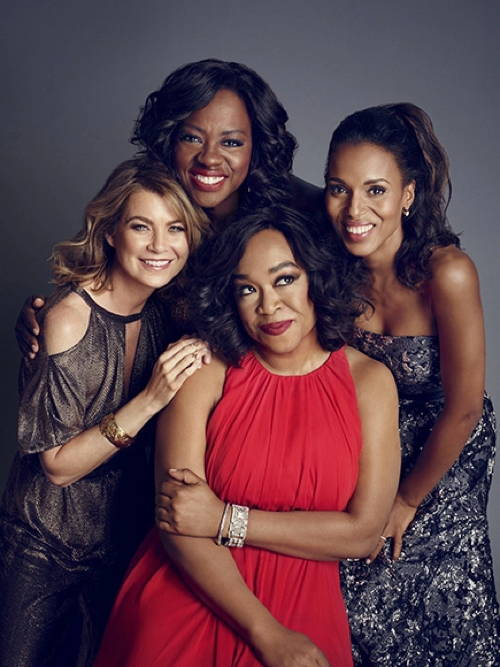 Shonda Rhimes with stars of her shows
