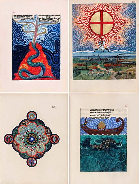 pages from The Red Book by Carl Jung