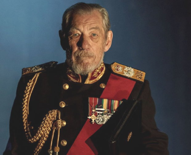 Ian McKellen as King Lear in London stage production