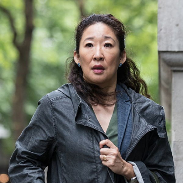 Sandra Oh in Killing Eve, 2018