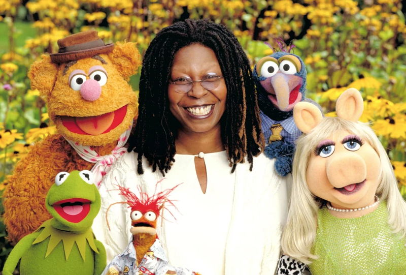 Whoopi Goldberg with Muppets