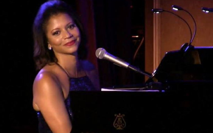 Gloria Reuben at piano from her Facebook page