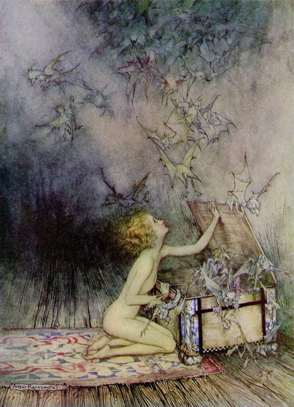 Pandora by Arthur Rackham
