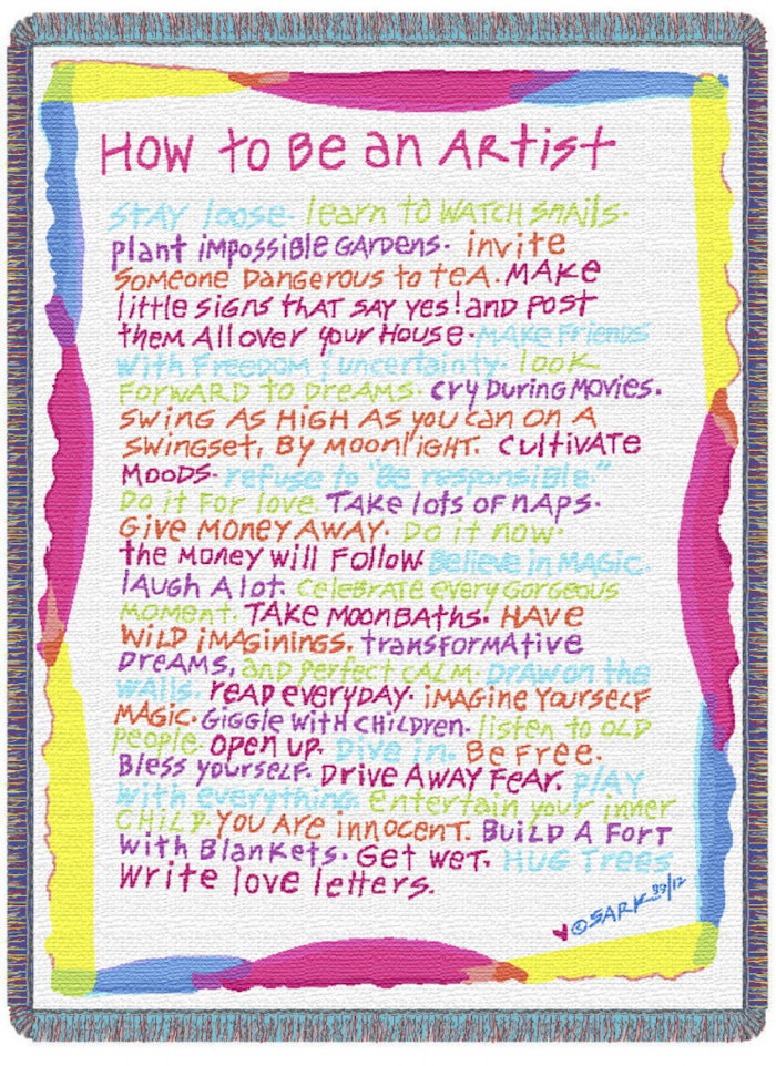 SARK - How to Be an Artist poster