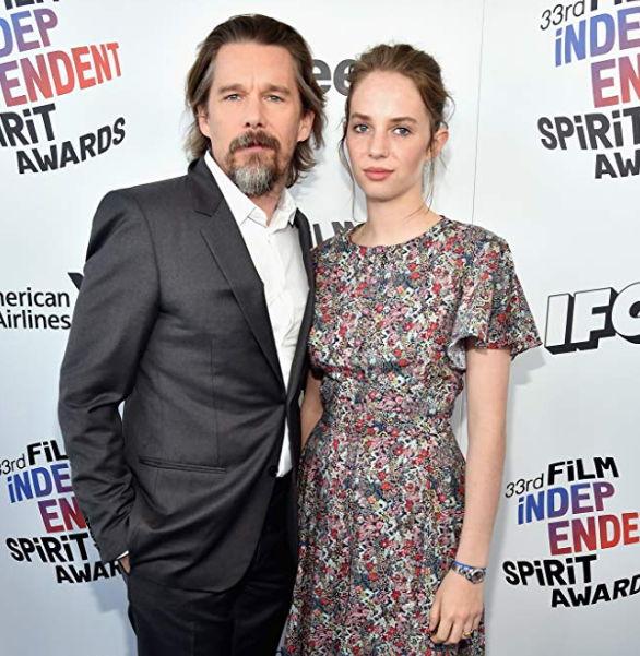 Ethan Hawke and Maya Hawke at 33rd Film Independent Spirit Awards (2018)