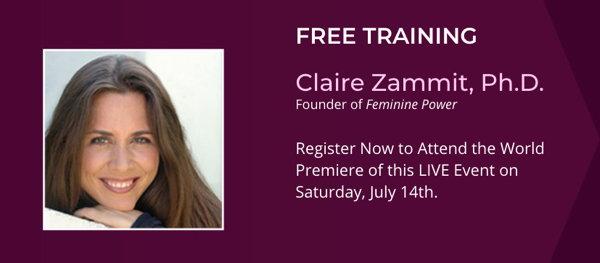 Unlock Your Feminine Power Webinar with Claire Zammit