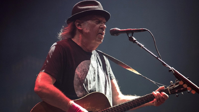 Neil Young performing