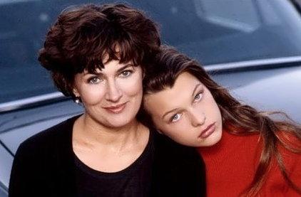 Milla Jovovich and her mother Galina Loginova