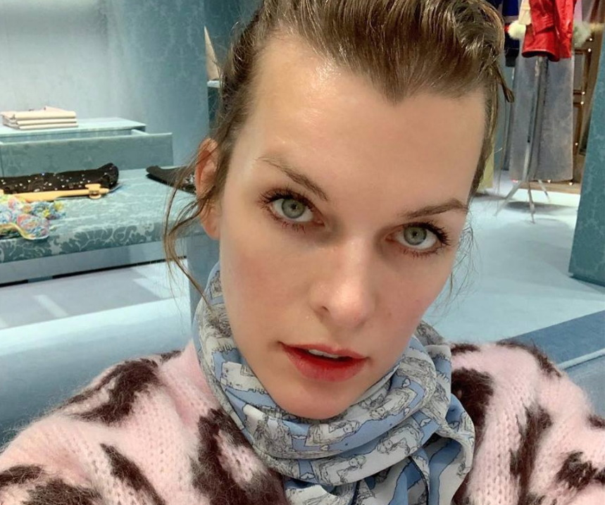 Milla Jovovich from her Facebook page