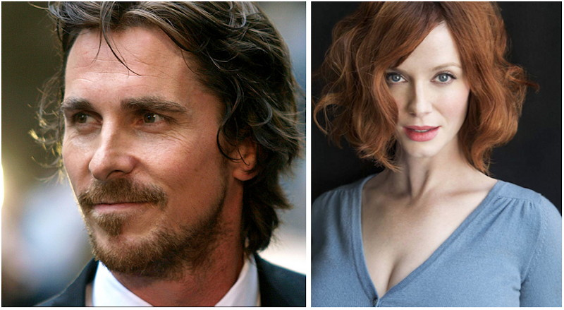 Christian Bale and Christina Hendricks