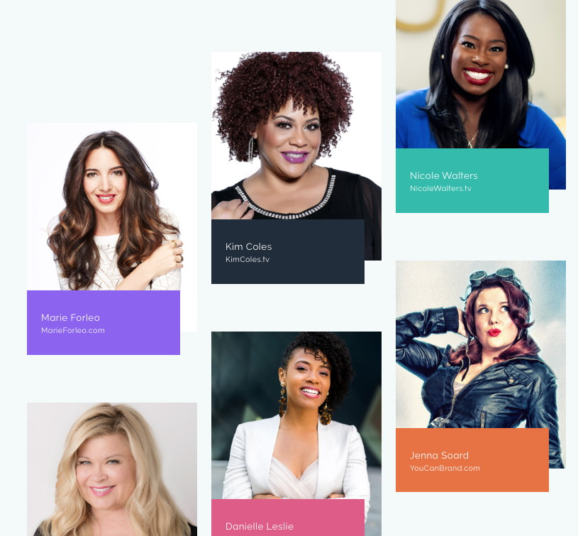 Some of the many presenters at the Women Who Create Summit