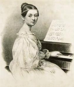 Clara Schumann in 1835